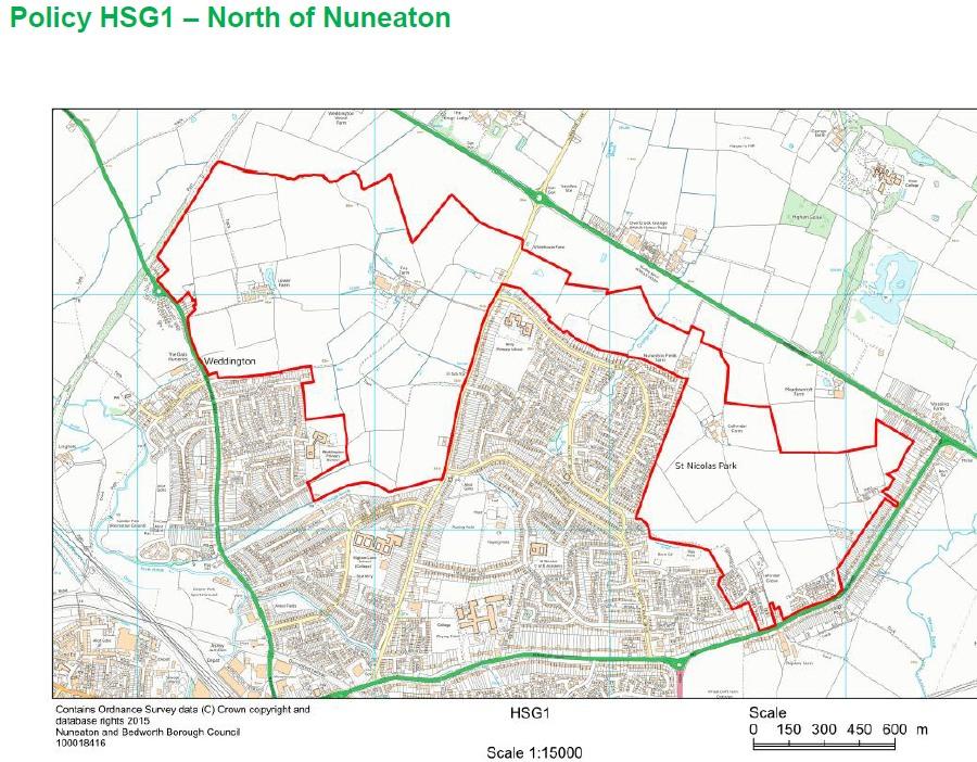 Housing Maps 2017 version Keiths Nuneaton and Bedworth Borough